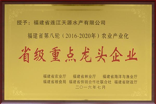 天源2016-2020年省产业化龙头牌